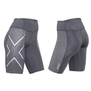 2XU Mid-Rise Pattern Compression Shorts / S